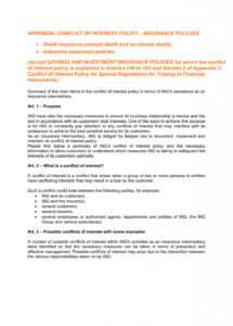 editable appendix conflict of interest policy  insurance employee conflict of interest policy template example