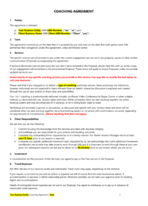 editable coaching legal bundle life coaching contract template doc