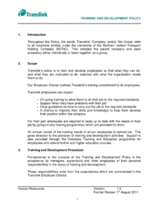 editable free 14 examples of training policy in pdf  examples training and development policy template pdf