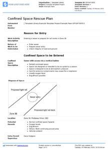 editable free confined space rescue plan template checklist and confined space policy template pdf