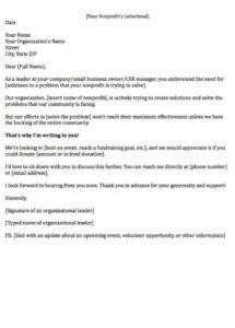 editable fundraising letters 7 examples to craft a great fundraising ask corporate donation letter template pdf