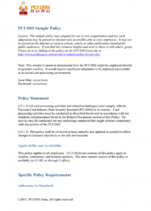 editable sample pci dss policy in editable word format security policy exception template excel