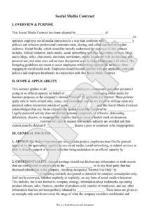 editable social media marketing contract template ~ addictionary social media consulting contract template example