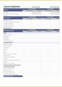 editable template  ytd profit and loss statement template with commission statement template word