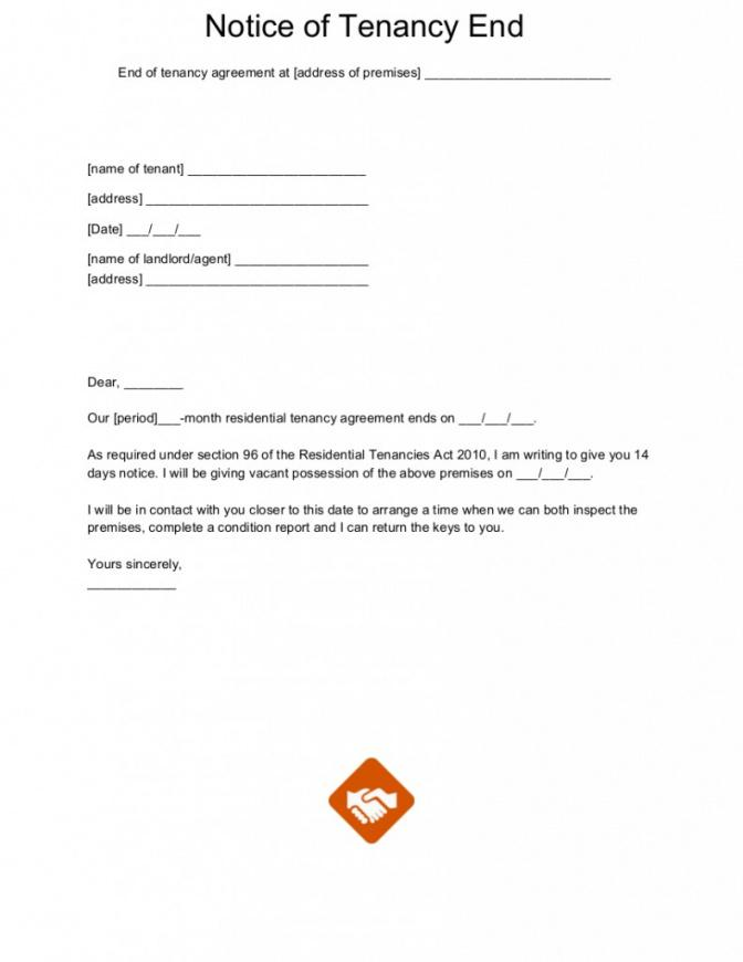 end of tenancy letter templates rental lease termination letter template sample