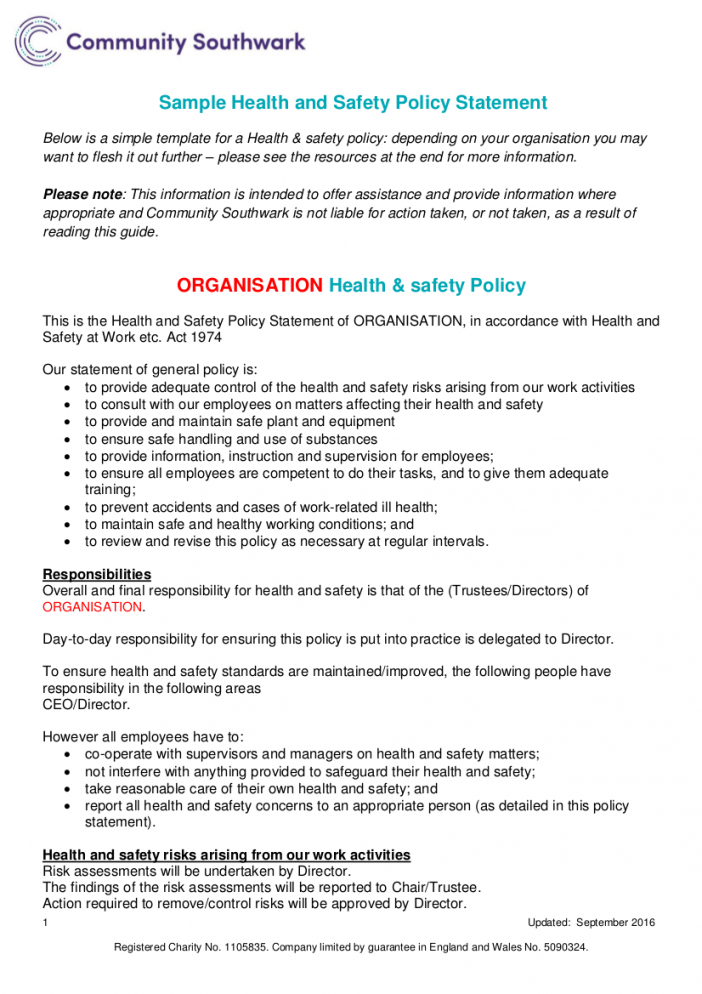 free 21 health and safety policy examples in pdf  google construction safety policy template example