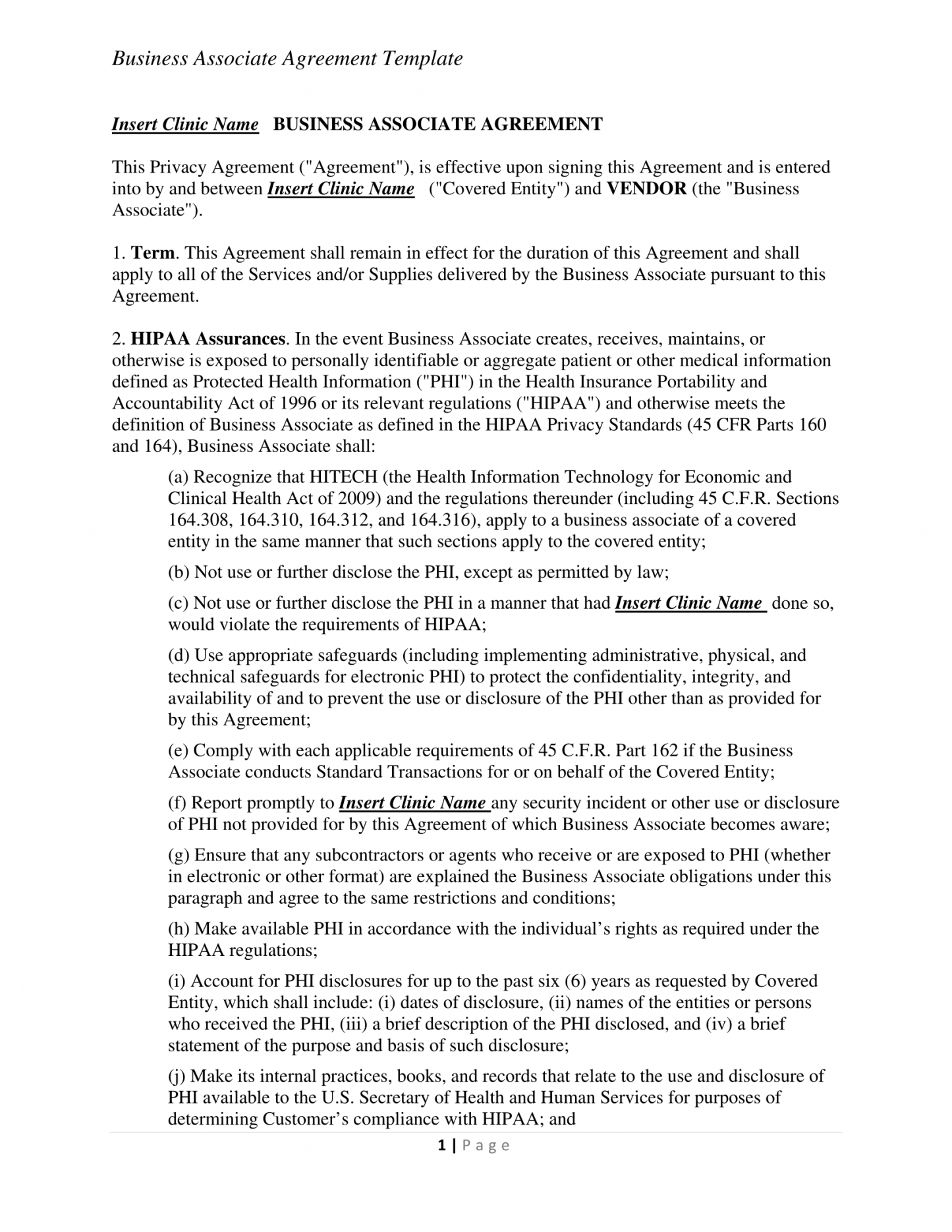 free 31 contract examples in pdf  examples business associate contract template