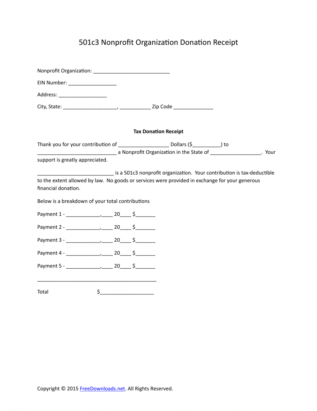 free download 501c3 donation receipt letter for tax purposes tax write off donation letter template doc