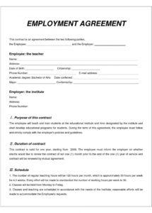 free employee contract templates ~ addictionary australian employment contract template word