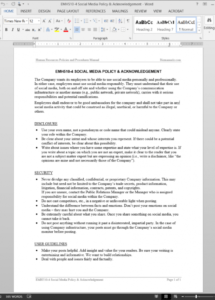 free employee social media policy & acknowledgement template  emh5104 employee social media policy template word