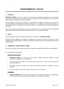 free environmental policy template  by businessinabox™ corporate responsibility policy template