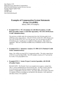 free examples of compensation system statements  ipmahr compensation policy template