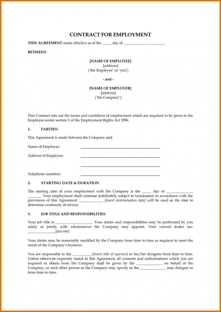free free employment contract templates ~ addictionary australian employment contract template doc