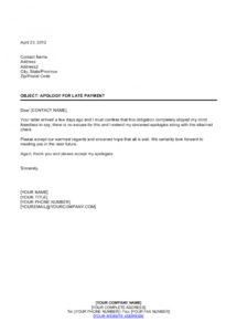 free friendly apology for late payment template  by businessin late payment policy template doc