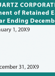 free the four core financial statements  principlesofaccounting retained earnings statement template pdf