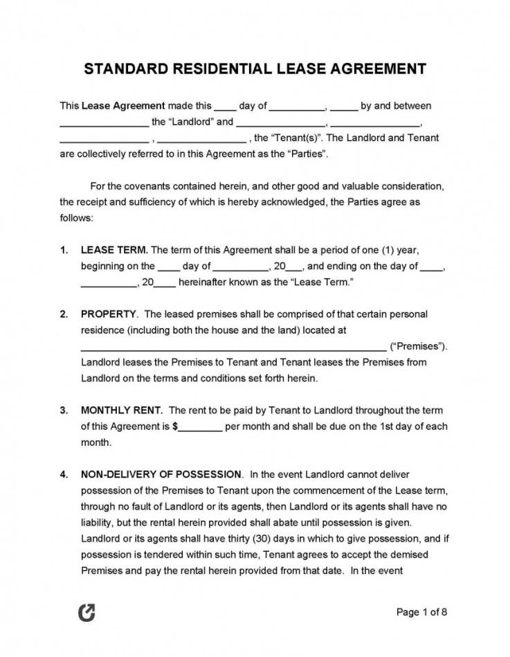 house rental agreement template ~ addictionary rental policy template word