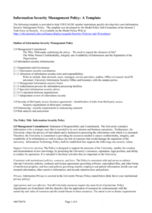 information security management policy a template employee intellectual property policy template example