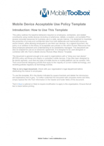 mobile device acceptable use policy template corporate cell phone policy template sample