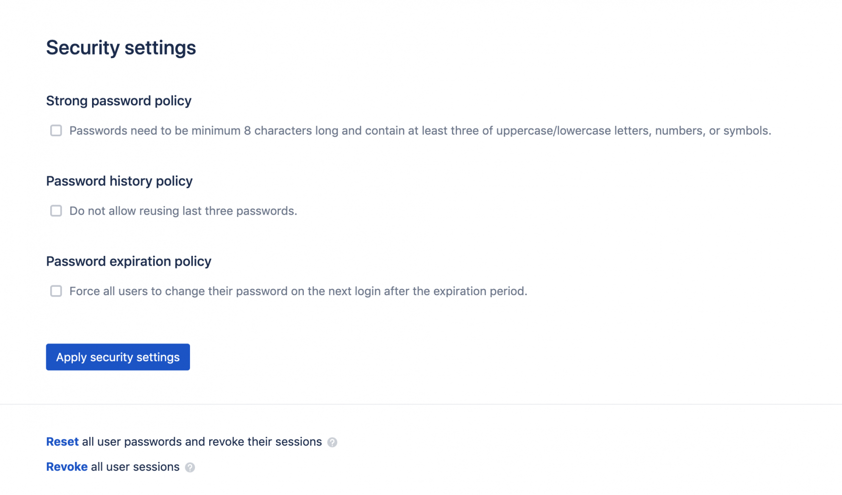 password policies password management policy template example