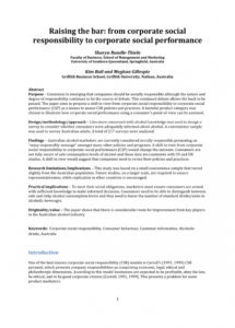 pdf raising the bar from corporate social responsibility corporate responsibility policy template word