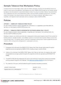 printable 10 smoking policy examples  pdf word  examples smoke free policy template word