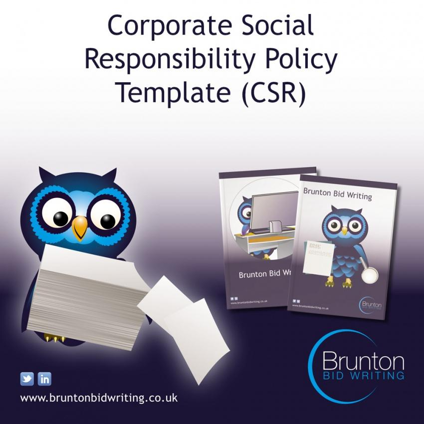 printable corporate social responsibility policy template for recruitment agencies corporate responsibility policy template sample