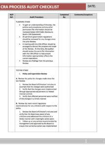 printable cra program template  geodatavision auditing policy template word