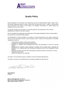 printable free 18 examples of quality policy in pdf  google docs safety shoe policy template excel
