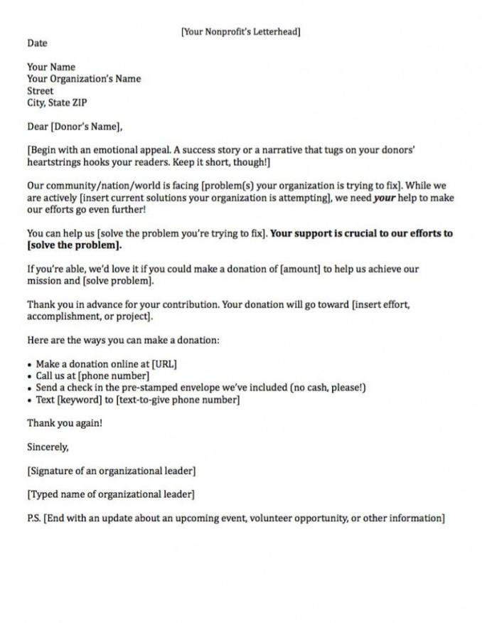 printable fundraising letters 7 examples to craft a great fundraising ask corporate donation letter template pdf