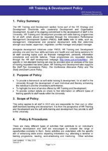 printable hr training and development policy template pdf  pdf format training and development policy template doc