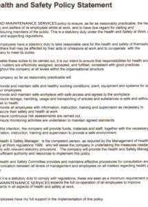 printable write a health and safety policy for your business safety shoe policy template word