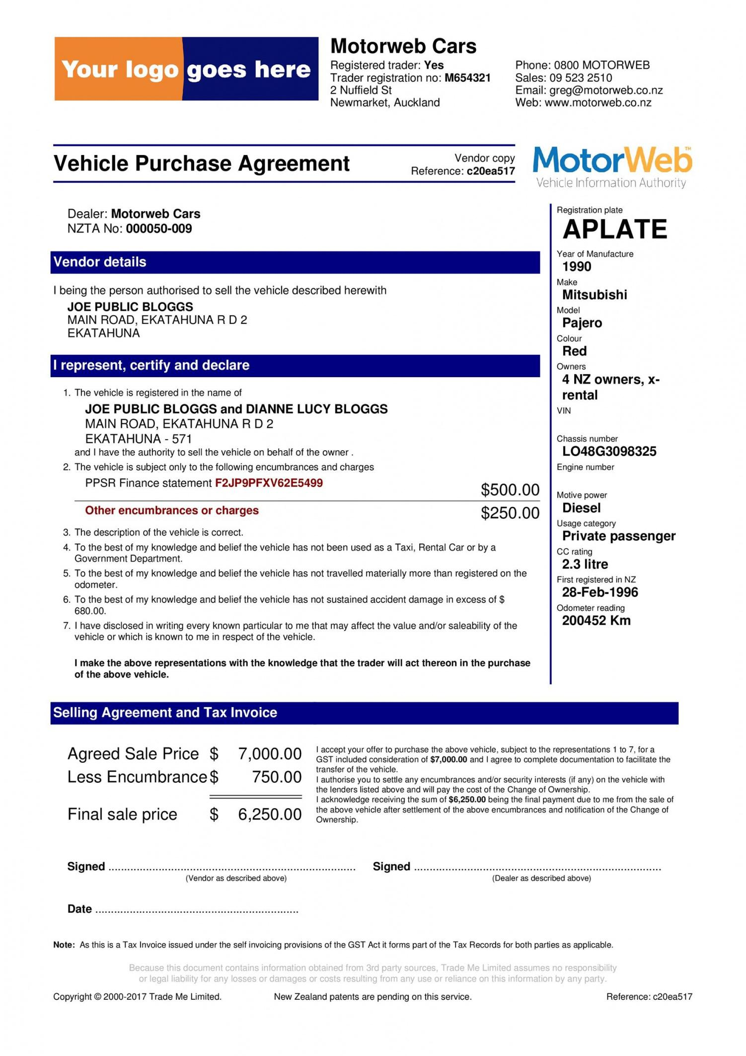 sample 42 printable vehicle purchase agreement templates  templatelab automotive service contract template pdf