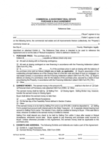 sample commercial real estate contract  fill online printable commercial real estate contract template example