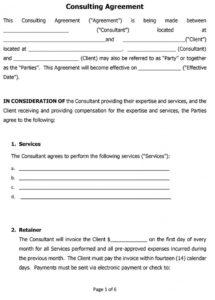 sample consulting contract examples to use for your business engineering consulting contract template excel