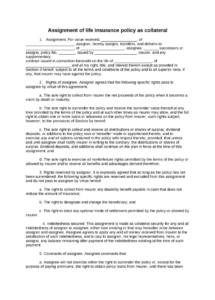 sample life insurance policies form blank life insurance life insurance policy document template sample