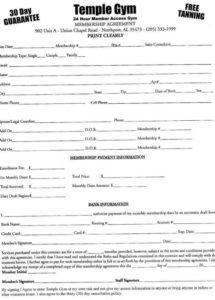 sample template personal trainer contract with gym template gym membership contract template doc