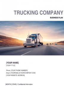 sample trucking company business plan template  by businessinabox™ trucking company policy template example