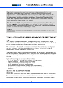 template staff learning and development policy  edit fill training and development policy template sample