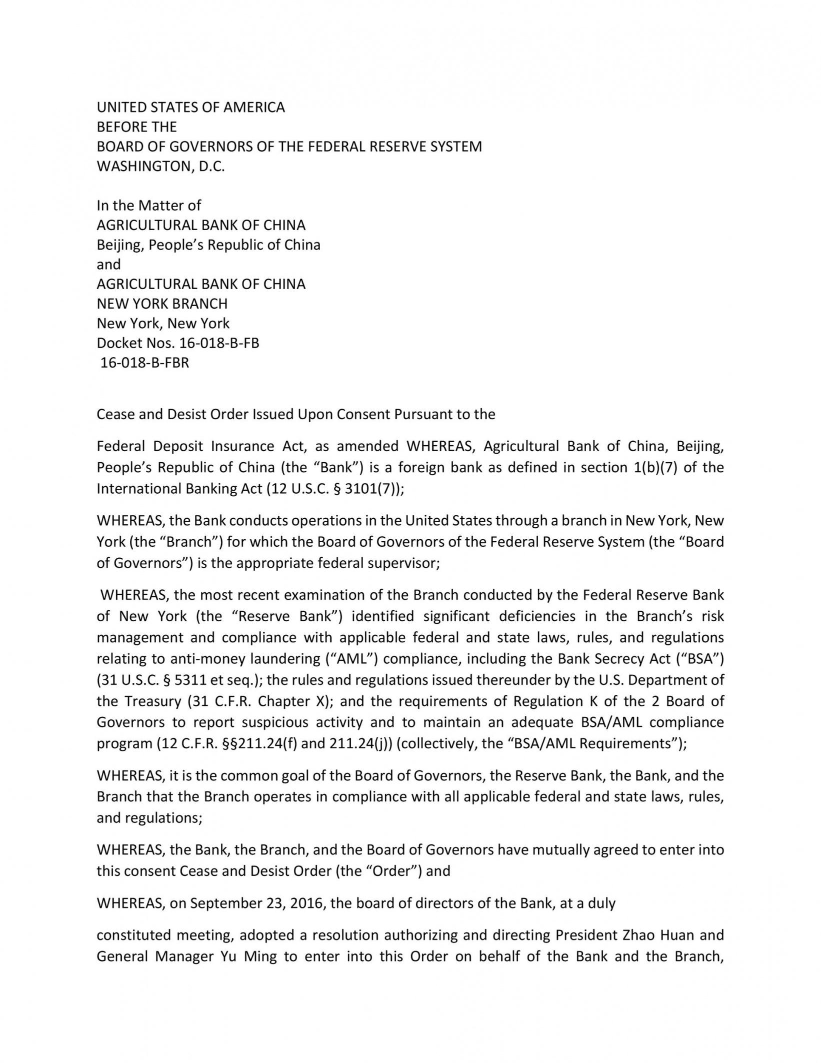 30 cease and desist letter templates free  templatelab general cease and desist letter template doc