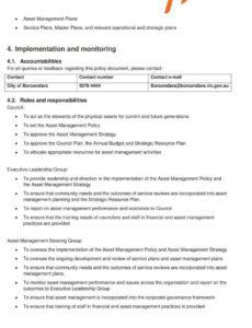 4 adoption of asset management policy and strategy  pdf asset management policy template sample