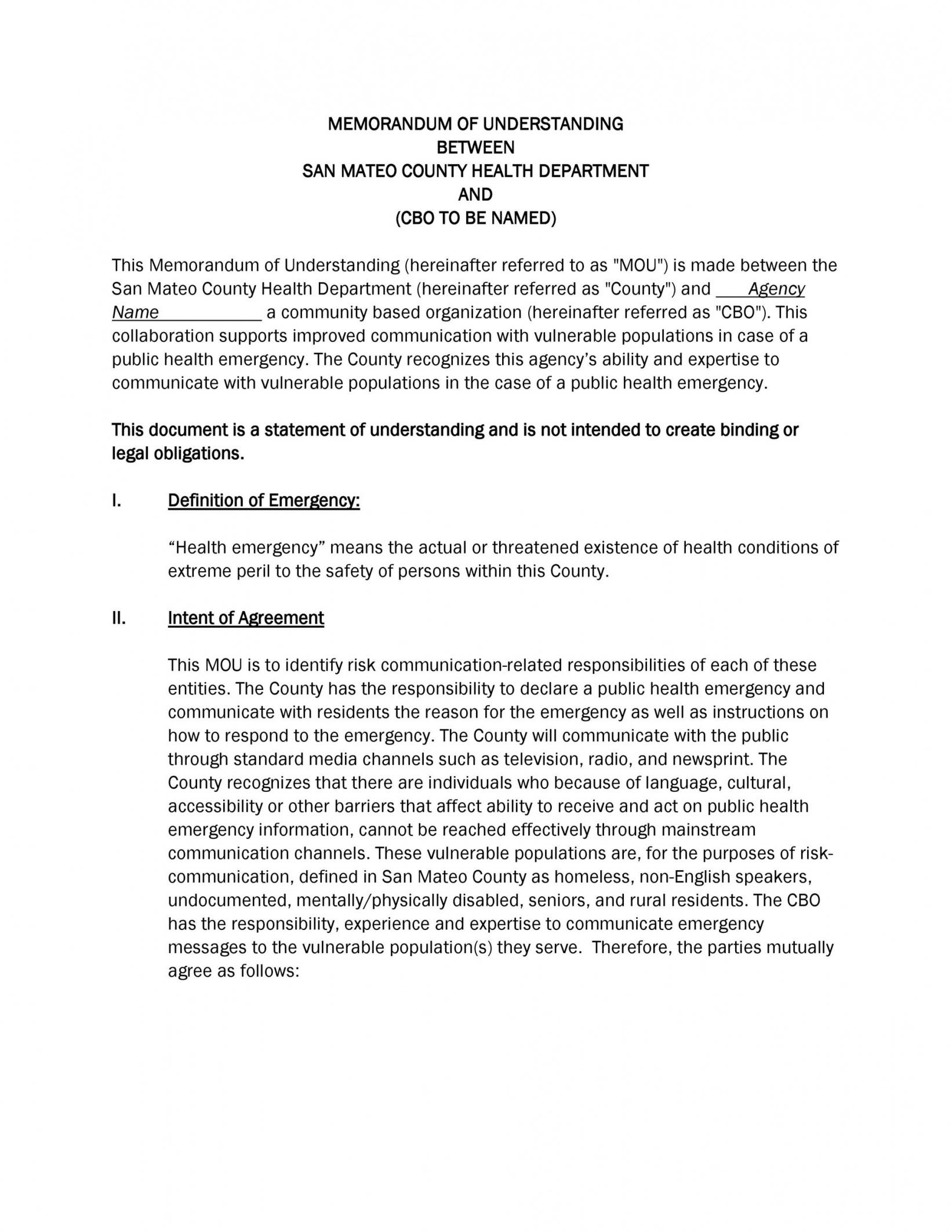 editable 50 free memorandum of understanding templates word statement of understanding template pdf