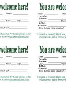 editable church visitor card template word ~ addictionary welcome letter for church visitors template sample