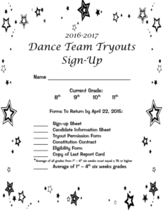 editable dance sign up sheet  fill out and sign printable pdf template  signnow dance team contract template
