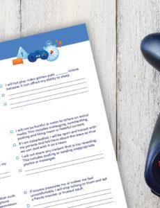 editable family media agreement printables for your electronics video game contract template