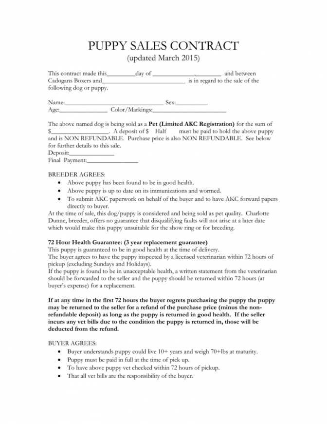 editable puppy sales contract dog sale contract template pdf