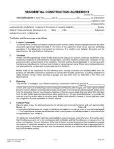 editable residential construction contract template ~ addictionary building construction contract template pdf