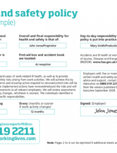 free 21 health and safety policy examples in pdf  google working alone policy template word