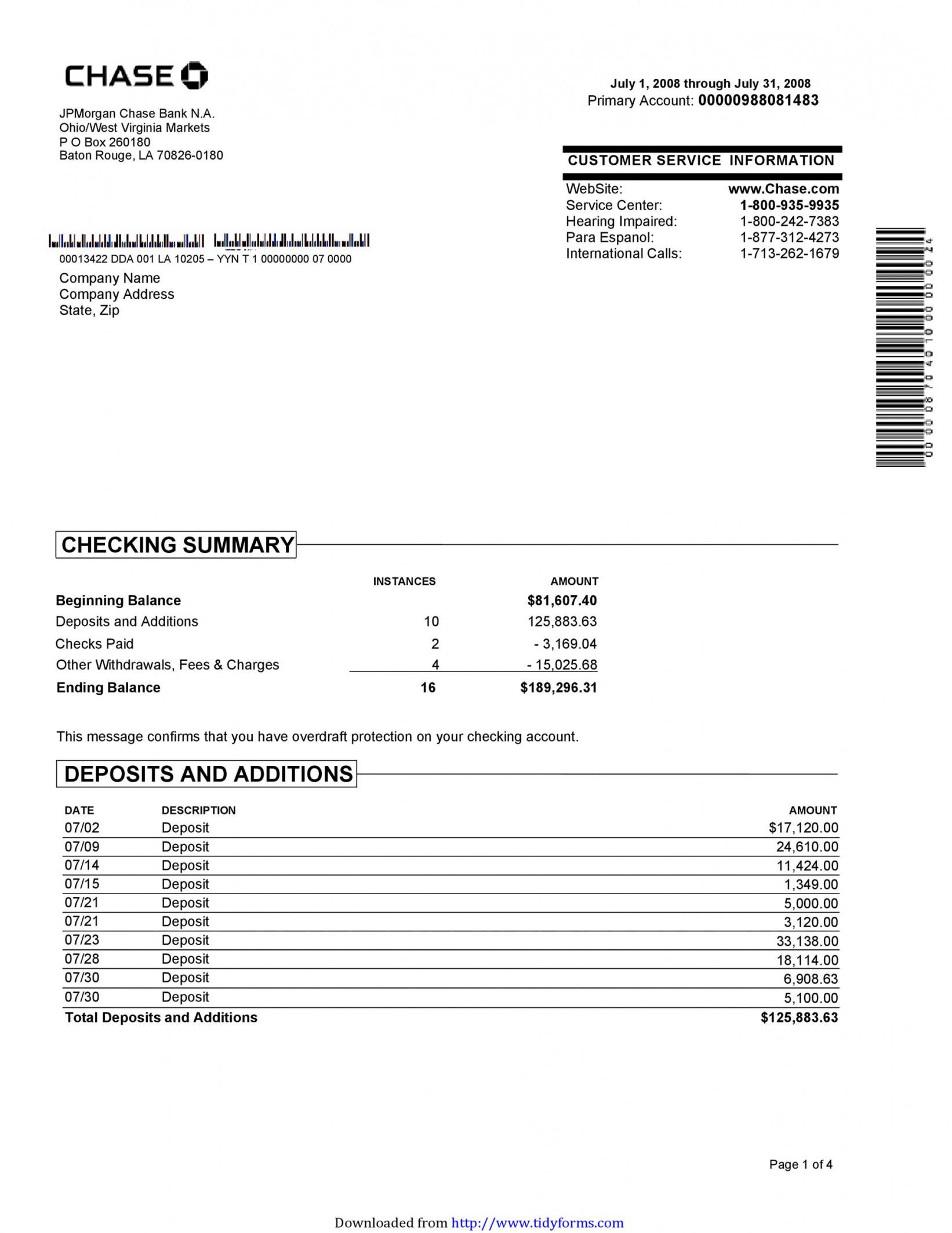 free 23 editable bank statement templates free  templatelab novelty bank statement template example