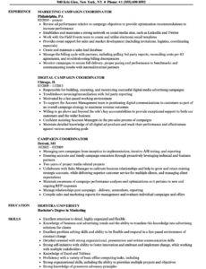 free campaign coordinator resume samples  velvet jobs political campaign manager contract template pdf