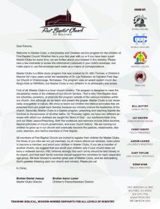 free club secretary welcome letter for church visitors template